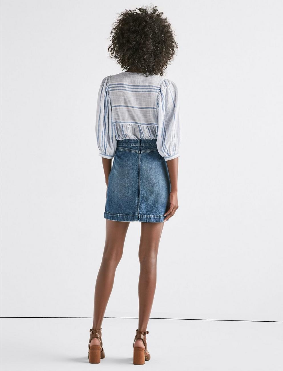 Denim A Line Skirt, KAUFMAN