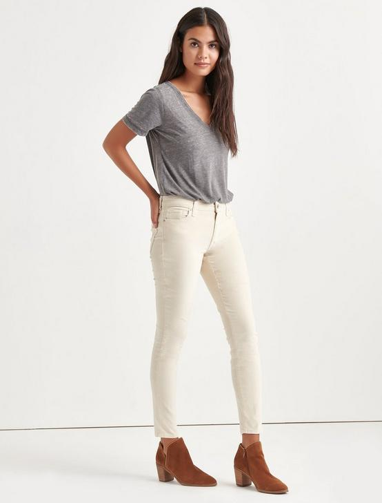 Ava Mid Rise Skinny Corduroy Pant, BIRCH, productTileDesktop