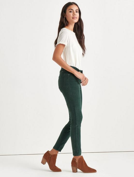 Ava Mid Rise Skinny Corduroy Pant, SCARAB, productTileDesktop