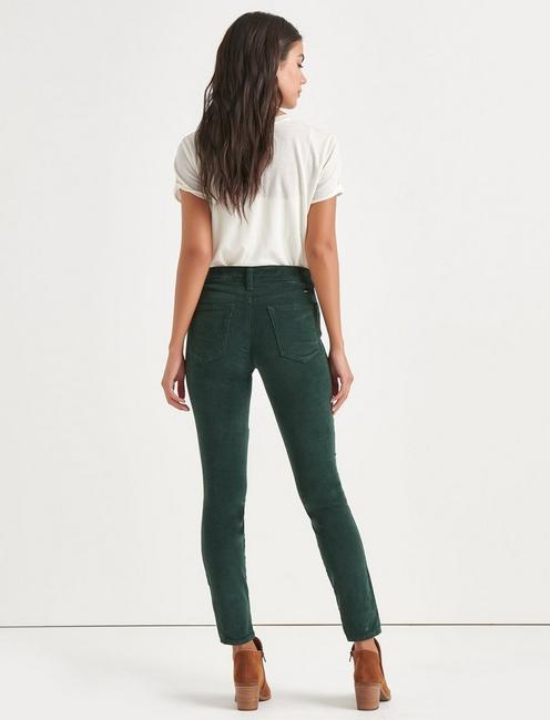 Ava Mid Rise Skinny Corduroy Pant, SCARAB