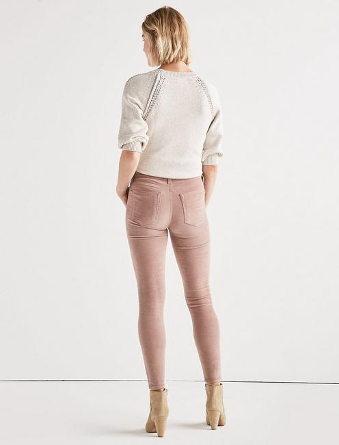 Ava Mid Rise Skinny Corduroy Pant, ANTLER PINK