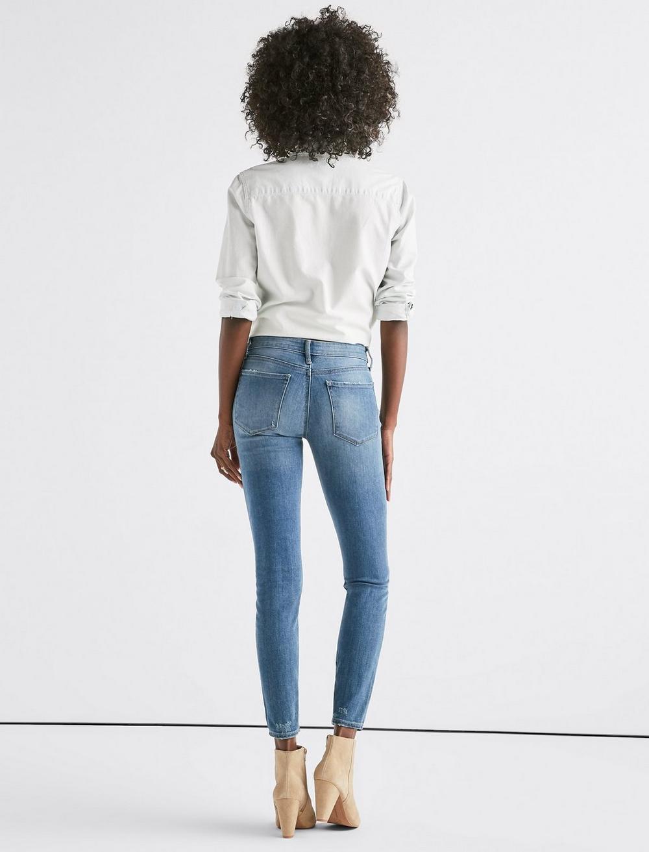 Ava Mid Rise Skinny Jean, image 3