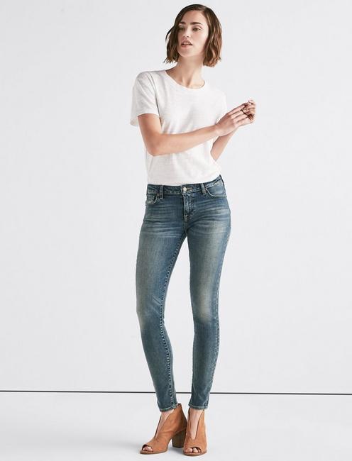Lolita Mid Rise Super Skinny Jean, WOODALE