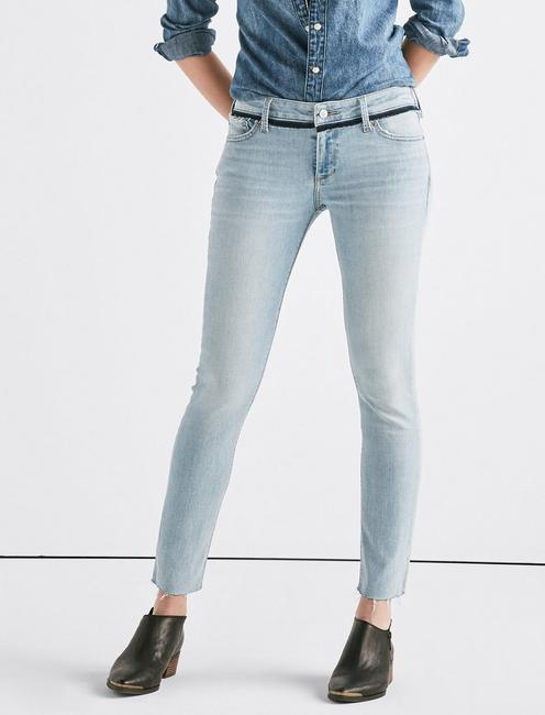 Lolita Mid Rise Skinny Jean with Custom Waistband,