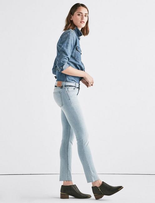 Lolita Mid Rise Skinny Jean with Custom Waistband, LOS ALTOS