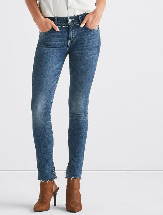 LUCKY REMADE AVA SKINNY JEAN WITH CONTRAST WAISTBAND, DARKE, productTileDesktop