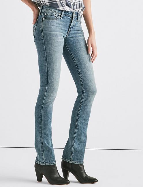 Sweet Mid Rise Straight Jean, HAVANA