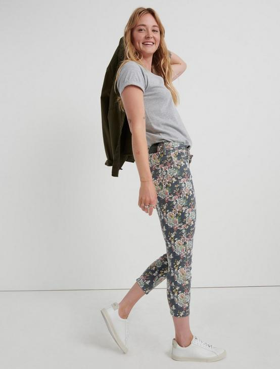 LOW RISE LOLITA CROP, GREY MULTI FLORAL, productTileDesktop