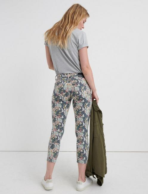 LOW RISE LOLITA CROP, GREY MULTI FLORAL