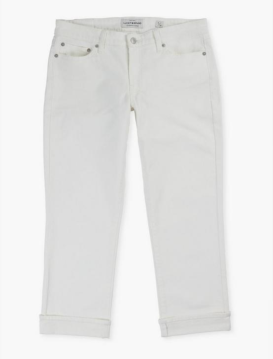 MID RISE SWEET CROP JEAN, CLEAN WHITE, productTileDesktop