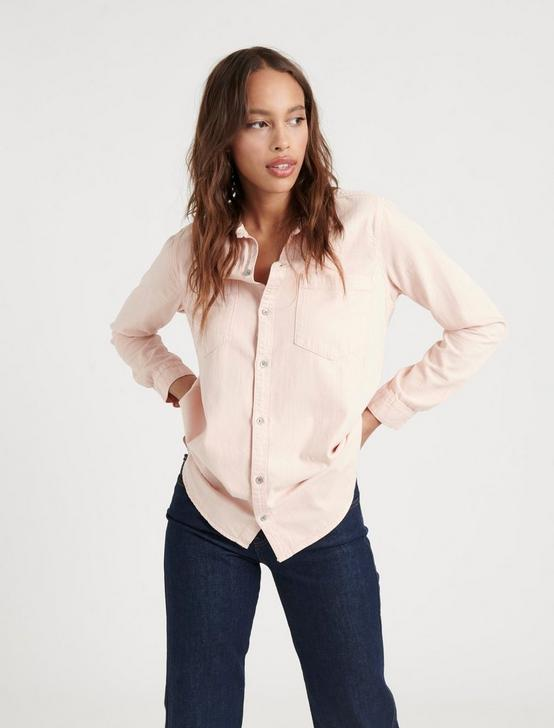 BOYFRIEND SHIRT, PALE BLUSH, productTileDesktop