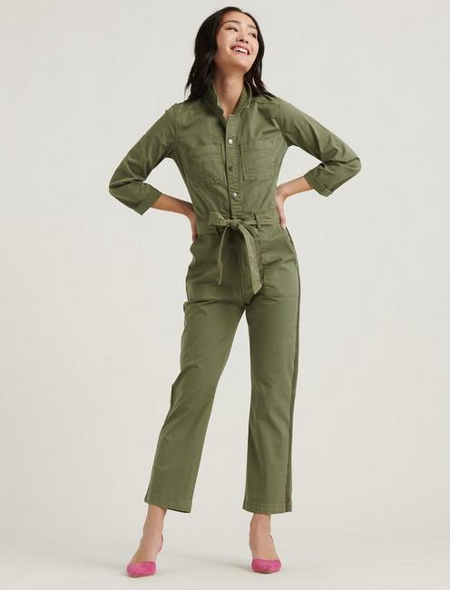 SURPLUS JUMPSUIT, DEEP LICHEN GREEN