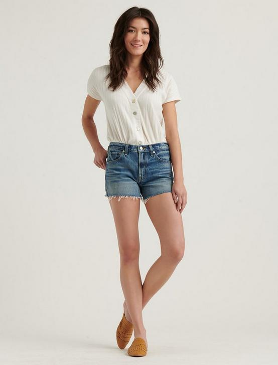 MID RISE CUT OFF JEAN SHORT, KINGS CANYON FRAY, productTileDesktop