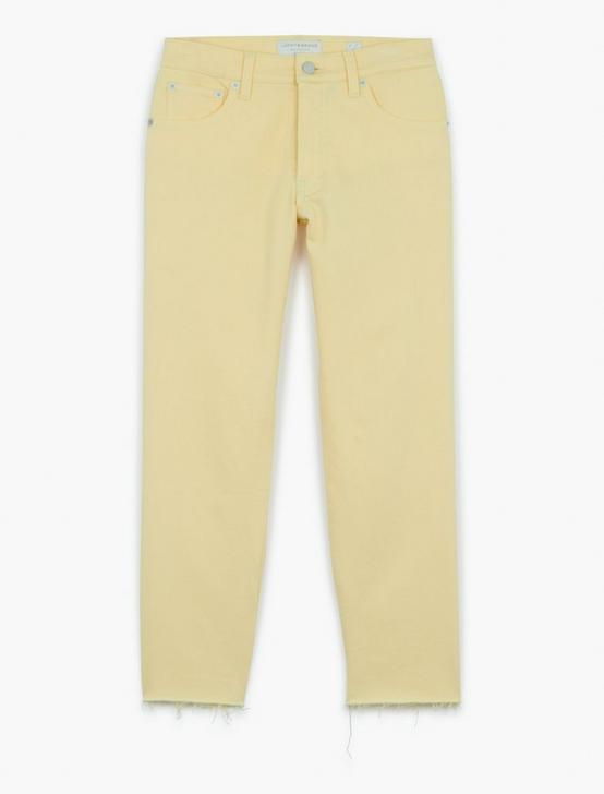 MID RISE AUTHENTIC STRAIGHT CROP, PASTEL YELLOW CT, productTileDesktop
