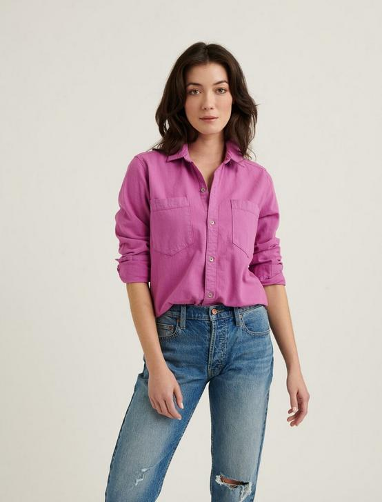 BOYFRIEND SHIRT, RADIENT ORCHID, productTileDesktop