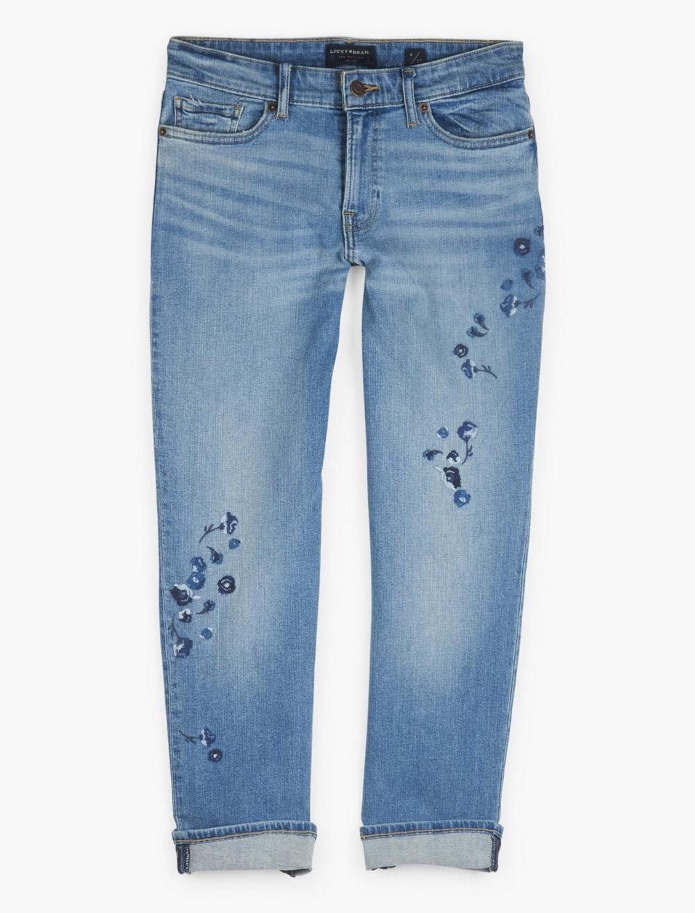 MID RISE SWEET CROP EMBROIDERED JEAN, image 1