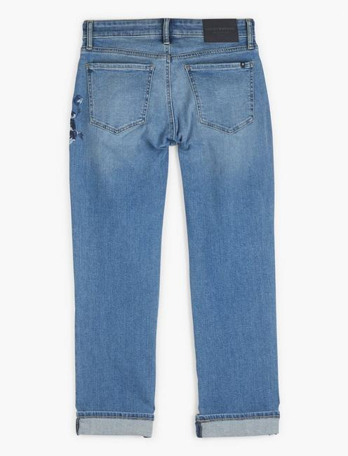 MID RISE SWEET CROP EMBROIDERED JEAN, CLAIRE