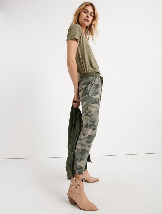 PULL ON LINEN PANT, OLIVE MULTI, productTileDesktop