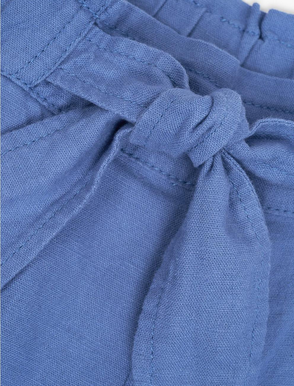 TIE FRONT SHORT, CHAMBRAY BLUE
