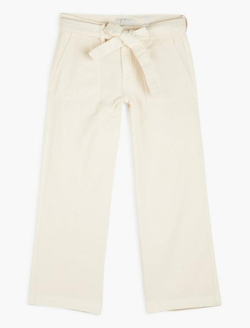 MID RISE CROP WIDE LEG, BIRCH