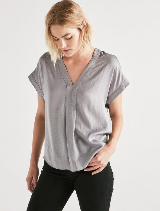 DRAPED SHIRT, SLEET, productTileDesktop