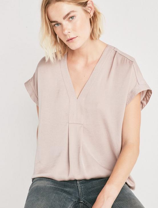 DRAPED SHIRT, CHAMPAGNE, productTileDesktop