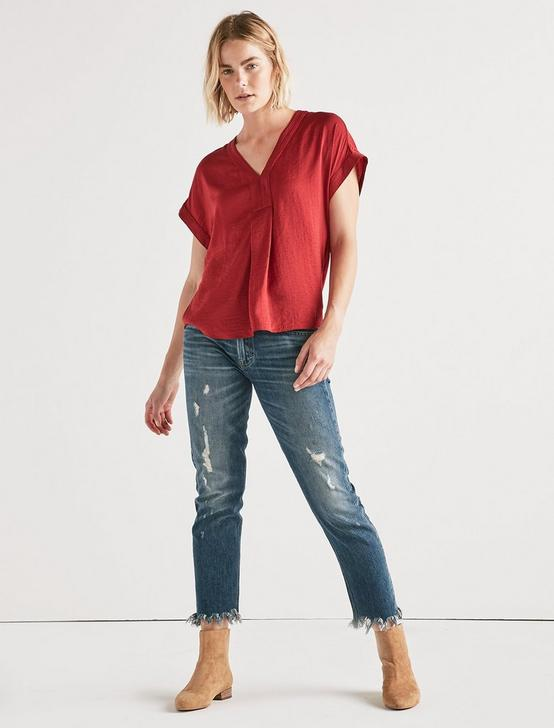 DRAPED SHIRT, RIO RED, productTileDesktop