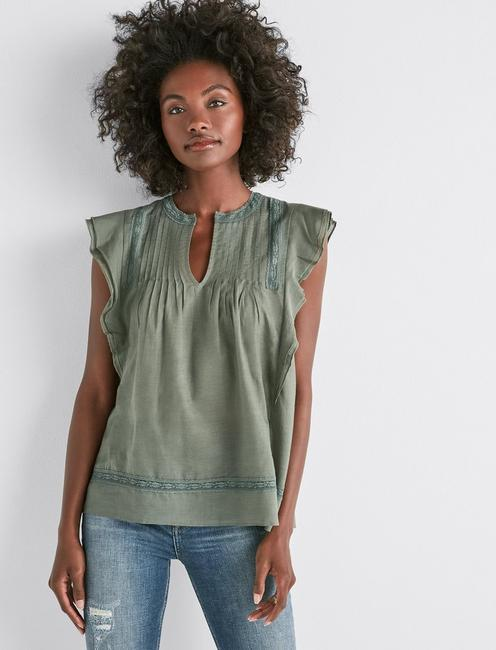 Lucky Sleeveless Solid Pintuck Top