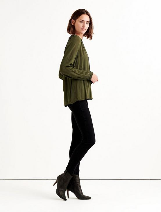 EMBROIDERED PEASANT TOP, FOREST NIGHT, productTileDesktop