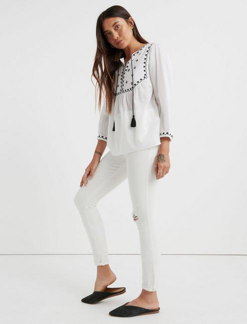 Evelyn Embroidered Peasant Top