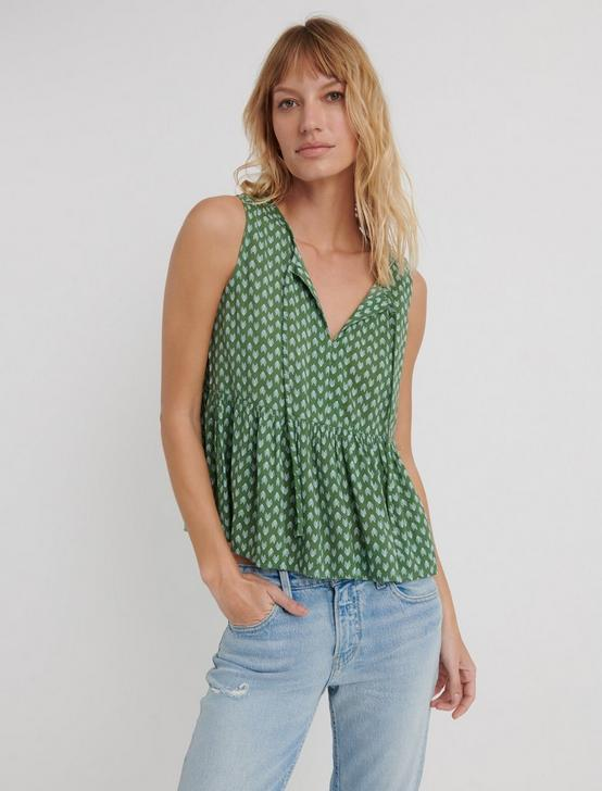 ROBIN PRINTED TANK, GREEN MULTI, productTileDesktop