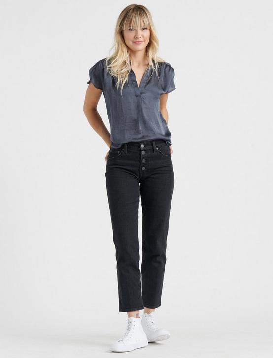 GENNI DRAPED SHIRT, SLATE, productTileDesktop