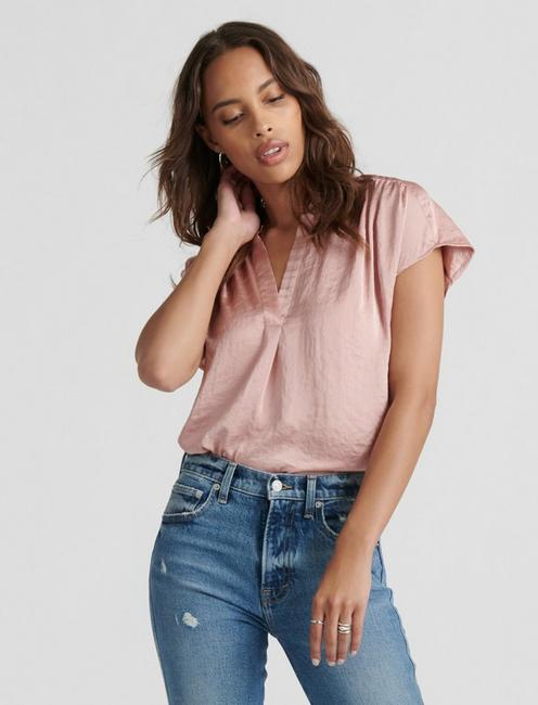 GENNI DRAPED SHIRT, BLUSH