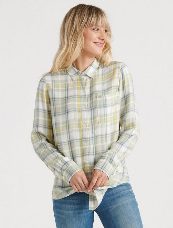PENELOPE CLASSIC SHIRT, GREEN MULTI, productTileDesktop