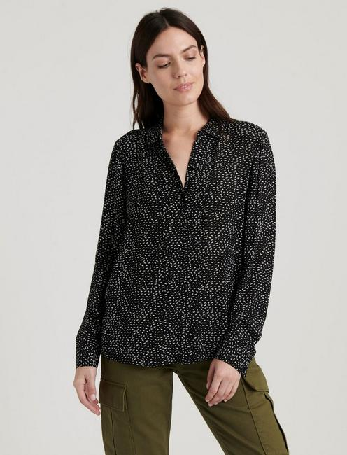 SAM BUTTON DOWN SHIRT, BLACK MULTI