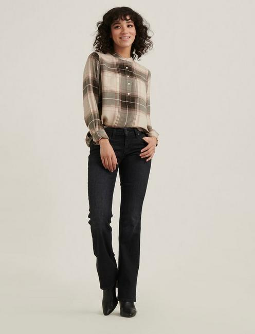 TUNIC PLAID, NATURAL MULTI