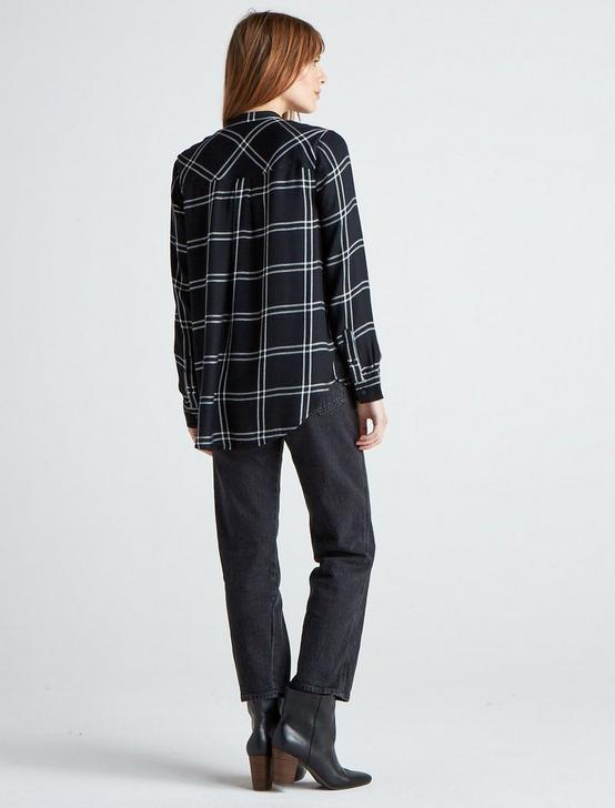 TUNIC PLAID, BLACK MULTI, productTileDesktop