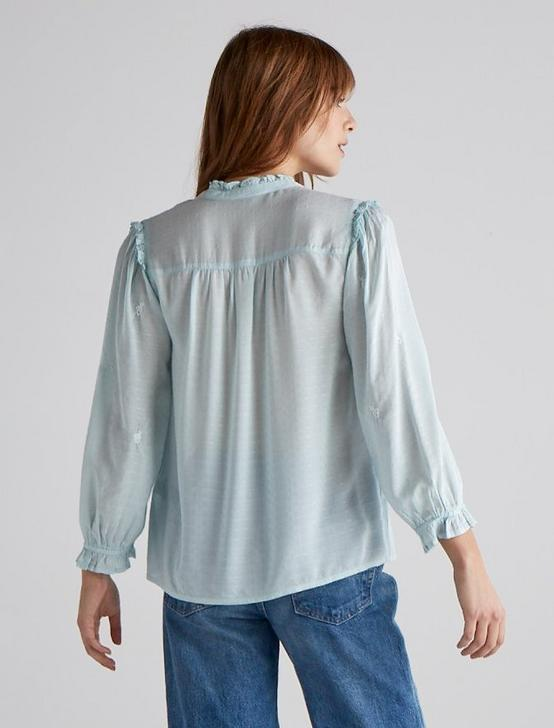 DAISY EMBROIDERED BLOUSE, CLOUD BLUE, productTileDesktop