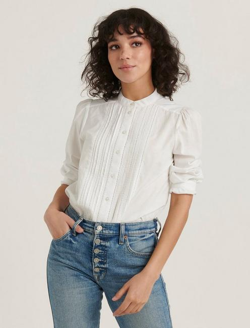 LUCY BLOUSE, LUCKY WHITE