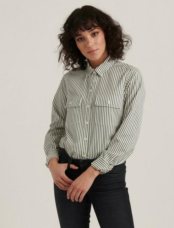 JAX STRIPED SHIRT, GREEN STRIPE, productTileDesktop