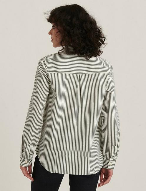 JAX STRIPED SHIRT, GREEN STRIPE