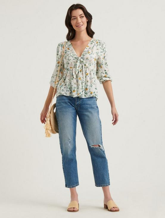 MALIA BLOUSE TOP, NATURAL MULTI, productTileDesktop
