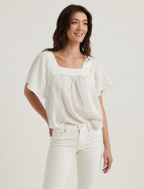SQUARE NECK BUTTERFLY TOP,