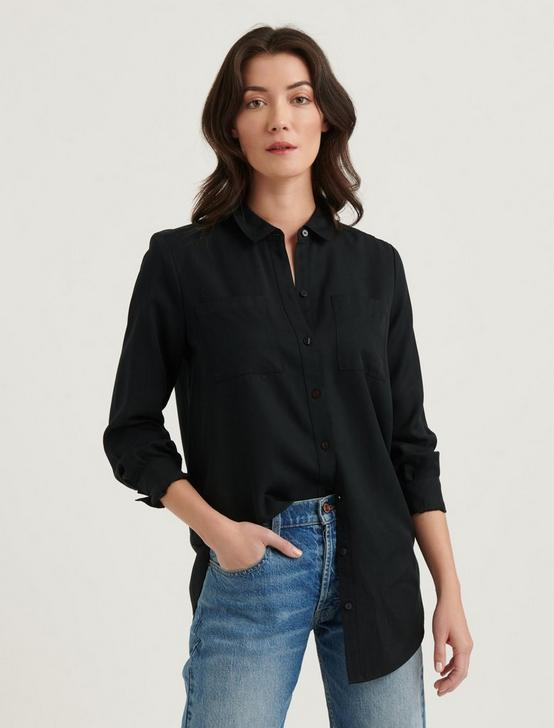 NOA TUNIC SHIRT, WASHED BLACK, productTileDesktop