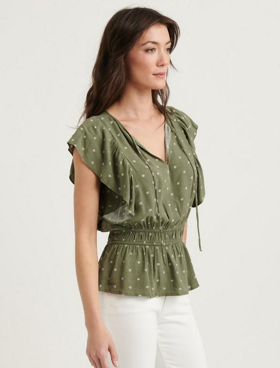 ARYA BLOUSE, OLIVE MULTI, productTileDesktop