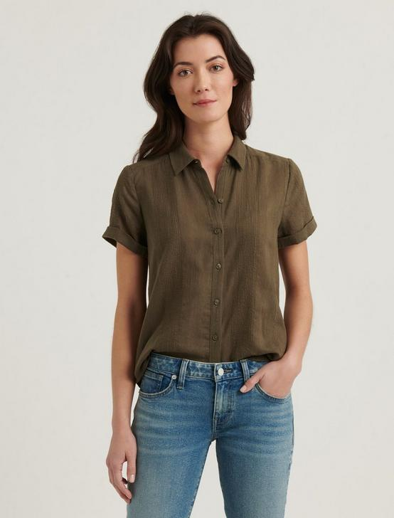 SUMMER SHIRT, OLIVE STRIPE, productTileDesktop