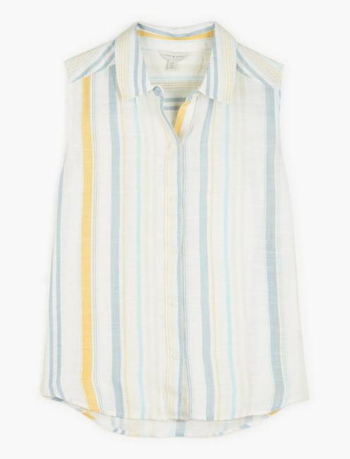 SLEEVELESS STRIPED SADIE SHIRT, MULTI