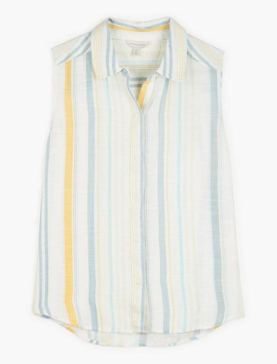 SLEEVELESS STRIPED SADIE SHIRT, MULTI, productTileDesktop