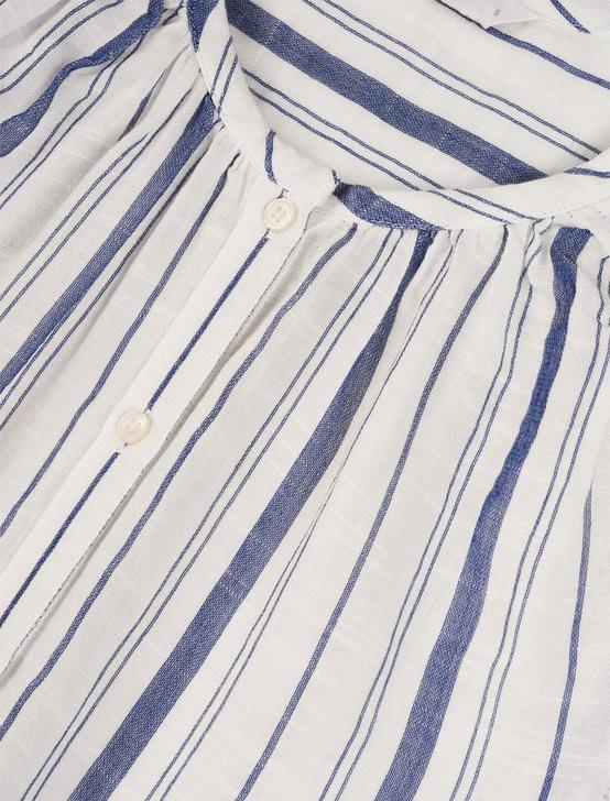 SLEEVELESS STRIPED JULIA SHIRT, NAVY STRIPE, productTileDesktop