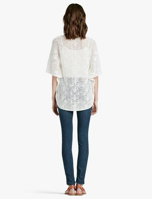 BUTTERFLY SWEATER, LUCKY WHITE